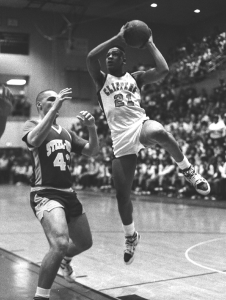 Mike Johnson, right, in action during the Clippers' PIAA quarterfinal win over Steelton-Highspire on March 22, 1989. (Times file)