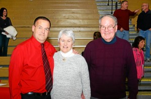 Brian Donoghue and his parents.  Photo by Paul Bogosian Special to the Times (Courtesy of Paul Bogosian)