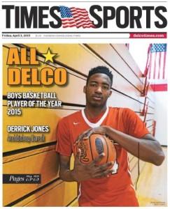 The 2014-15 Daily Times Boys Basketball Player of the Year Derrick Jones of Archbishop Carroll. (Rick Kauffman)