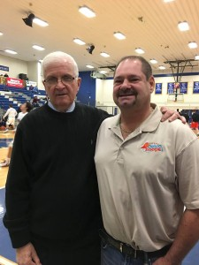 Congrats to Philly-area legendary boys basketball coach Speedy Morris.   His St. Joe's Prep (Phila Catholic League) squad beat Delaware power and defending back to back state champion Salesianum 49-43 at the Pete Nelson/Jameer Nelson Showcase at Widener this Wednesday afternoon!!!  Speedy now has 300 victories in 15 seasons at St. Joe's Prep. He won 347 in 14 years at Roman Catholic.