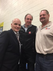 St. Joe's Phil Martelli and Temple's Fran Dunphy. College coaching legends in the house Wednesday night at the Pete Nelson/Jameer Nelson boys basketball Classic at Widener University in Chester.