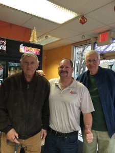 With Delco Sports Legends at the Dunkin Donuts in Parkside this Wednesday!!!  Gus Kaffes (Eddystone HS Class of 1947) and Joe Lastowka (St. James Class of 1953)