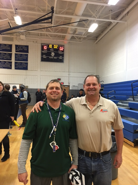 "With Academy Park HS (Sharon Hill, PA) head football coach and AD Jason Vosheski at our delcohoops,com broadcast AP vs Glen Mills Tuesday night. Jason, a Ridley HS grad, has led the Academy Park football team to a pair of District-1 Triple ""A"" championships over the past three seasons. We at Delco Hoops appreciate his hospitality!!!"